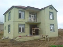 Construction of turnkey country houses