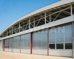 Installation of hangar gate