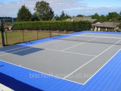 Construction of a tennis cour