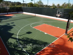 Construction of basketball cour