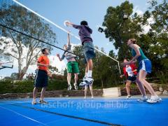 Строительство волейбольного корта