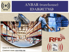 Inventory of a warehouse with the help of RFID.