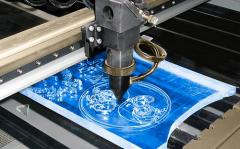 Laser cutting and engraving of organic glass