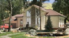 Bir mertebeli mansard evler