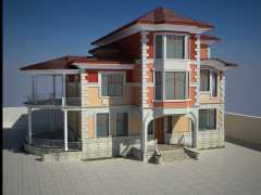 İki mertebeli mansard evler