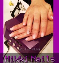 Процедура наращивания ногтей гелем от Nikki Nails