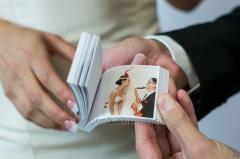 Флипбук - пригласительные на свадьбу