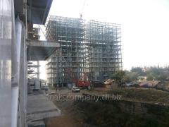 Монтаж конструкций для быстровозводимых зданий