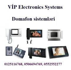 Domafon sistemləri, audio və video domafon sistemləri