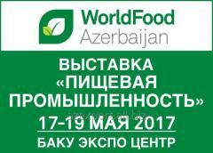 Exposition internationale « l'industrie alimentaire» WorldFood Azerbaïdjan 2017