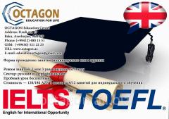 English language courses, training in English: