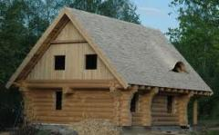 Construction of wooden and frame houses