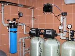 Installation of systems of water purification